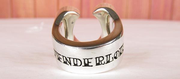 TENDERLOIN テンダーロイン シルバー×ダイヤモンド ホースシューリング 指輪 13号