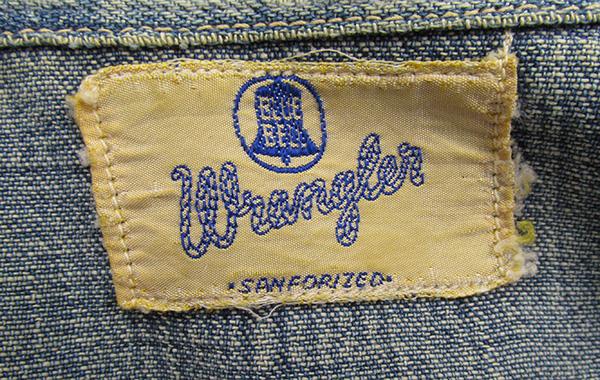 ビンテージ 50's ラングラー 27MW 1st 縦ベル ウエスタンシャツ