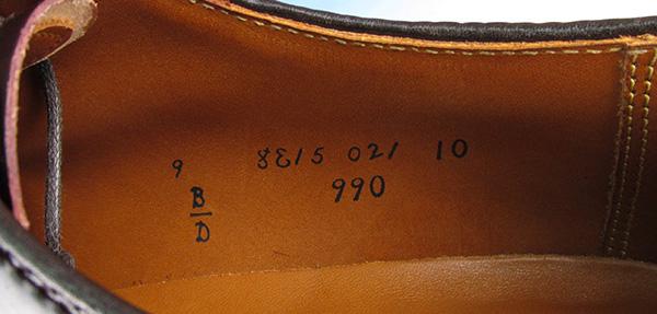 Alden オールデン 990 コードバン プレーントゥシューズ