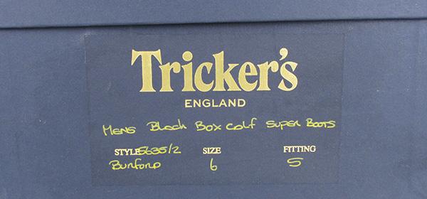 Trickers トリッカーズ 5635 BURFORD バーフォード ブーツ