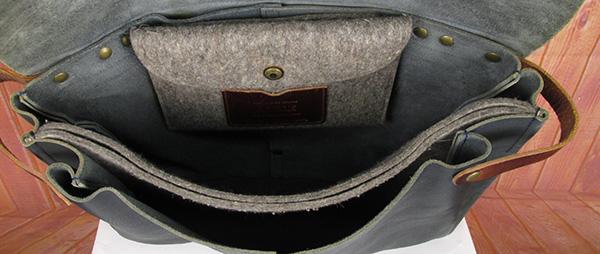Nigel Cabourn×AIGLE ナイジェルケーボン エーグル blue de chauffe社製 ポストマンバッグ