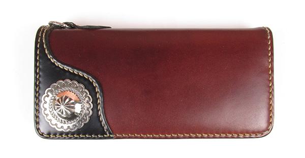 フラットヘッド FCB-55C コードバン 手縫い コンチョ ロングウォレット ウォレットロープ ループ