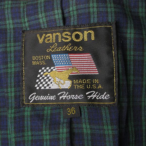 VANSON バンソン ENF ホースハイド ライダースジャケット