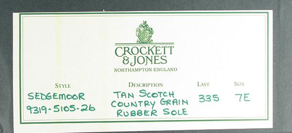 Crockett&Jones クロケットアンドジョーンズ CHEVIOT コードバン ウィングチップシューズ