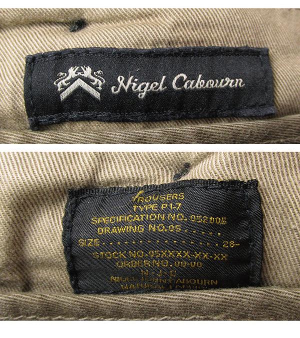 Nigel Cabourn ナイジェルケーボン ミリタリーパンツ ベルト サスペンダー付き