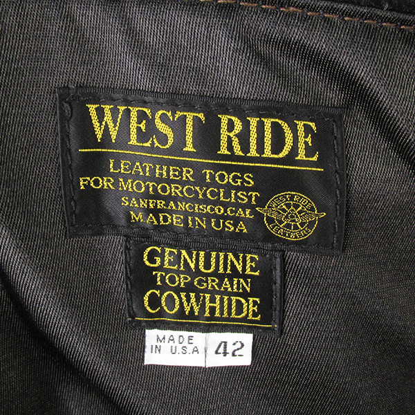 WESTRIDE ウエストライド CHPWD ダブルライダースジャケット
