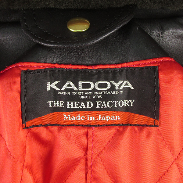 KADOYA カドヤ ヘッドファクトリー ライダースジャケット