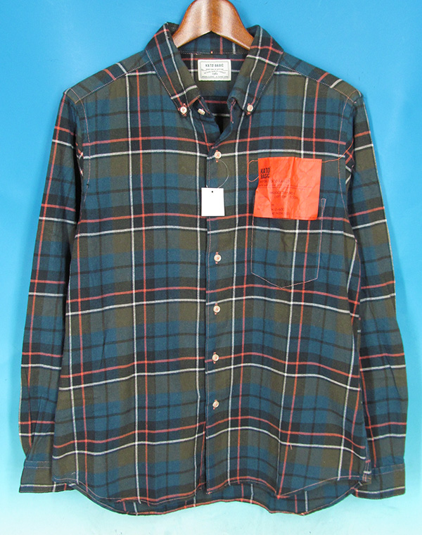 KATO' カトー ボタンダウン ネルシャツ Mの買取