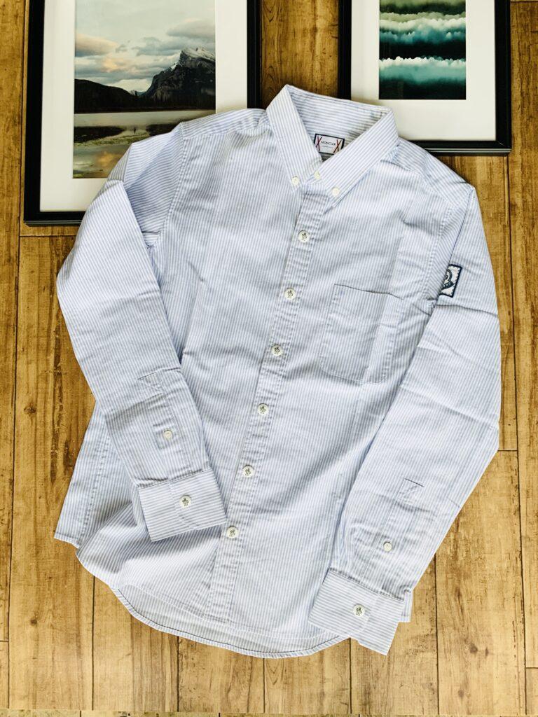 MONCLER (モンクレール)ガムブルー ボタンダウンシャツの買い取り