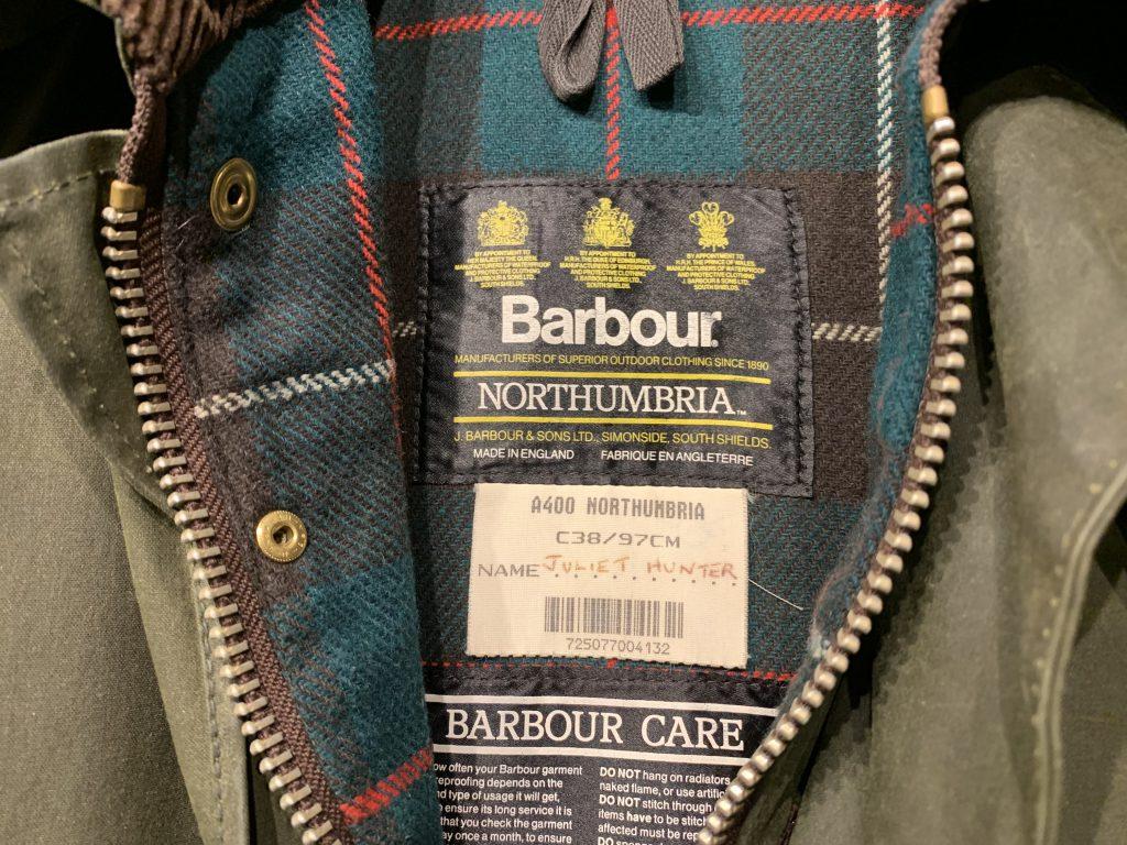 Barbour NORTHUNBRIA バブアー ノーザンブリアを買取しました!