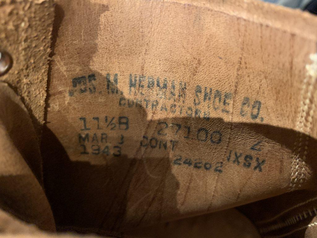 VINTAGE WWⅡ SURVICE SHOES TYPEⅢ M-43 ビンテージ ラフアウトサービスシューズ タイプⅢ 後期型