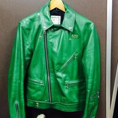 ルイスレザー・サイクロンの古着を買取りました。レアな緑です。