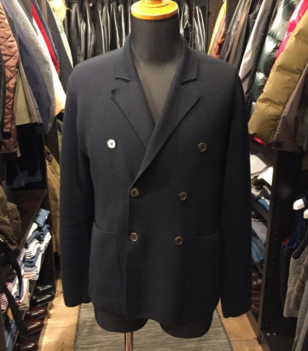 Cruciani クルチアーニ ミラノリブ ダブルブレスト ニットジャケットの買取のご紹介です。