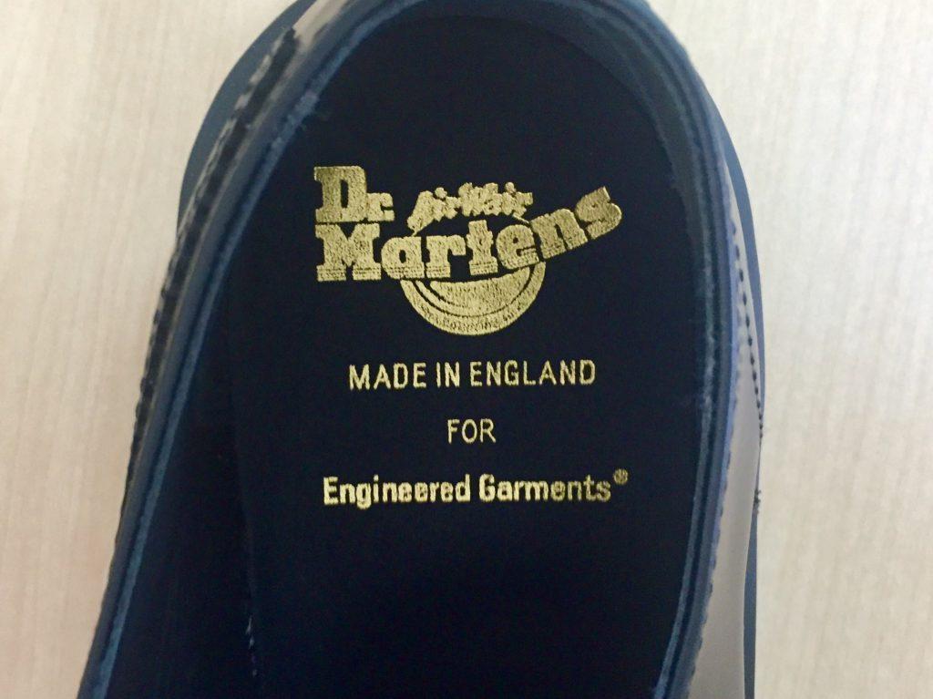 Dr.Martens×Engineered Garments ドクター マーチン×エンジニアードガーメンツ ギリーレース ダービーシューズ