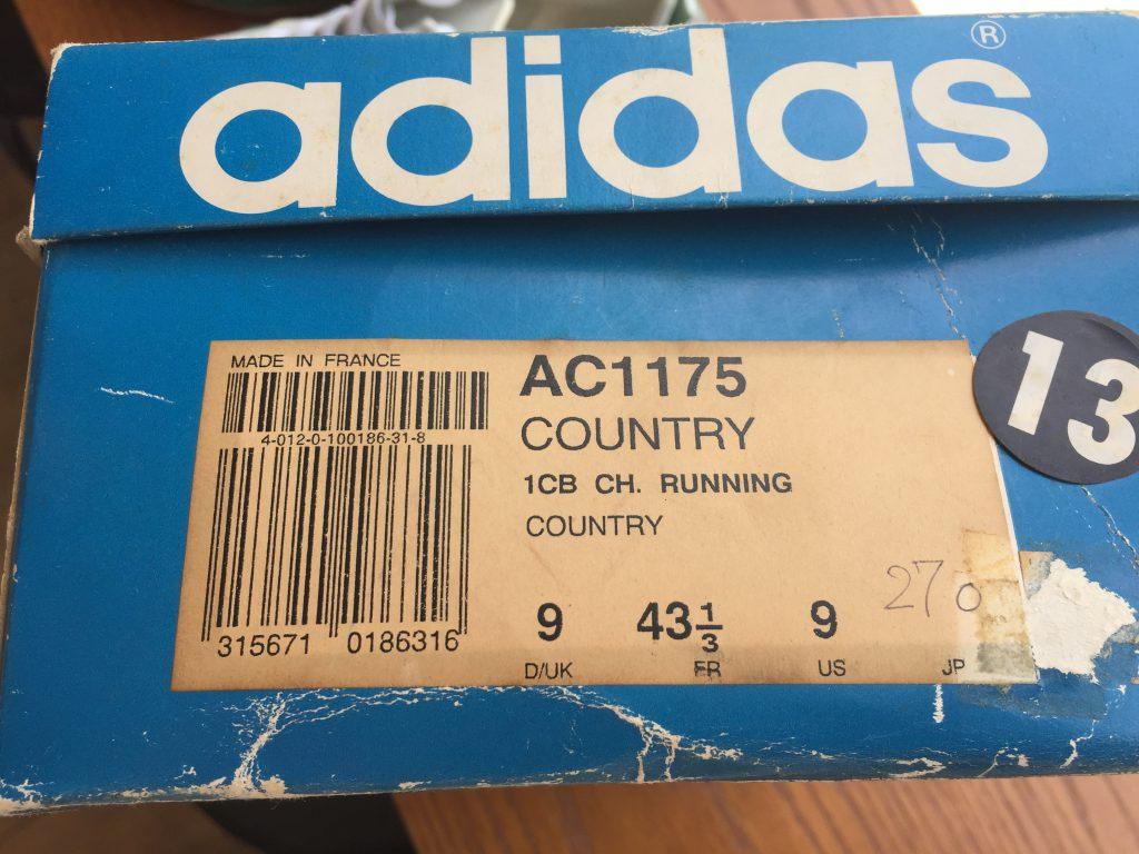 adidas country アディダス カントリー 箱付き デッドストック