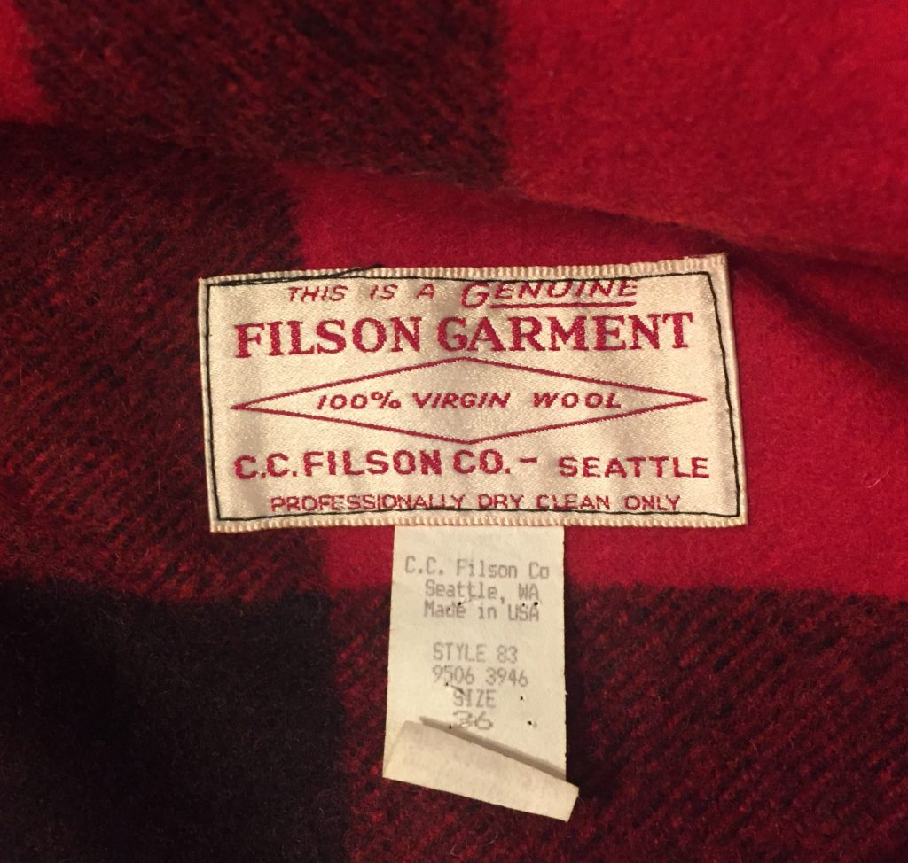 FILSON フィルソン ダブルマッキーノ クルーザージャケット