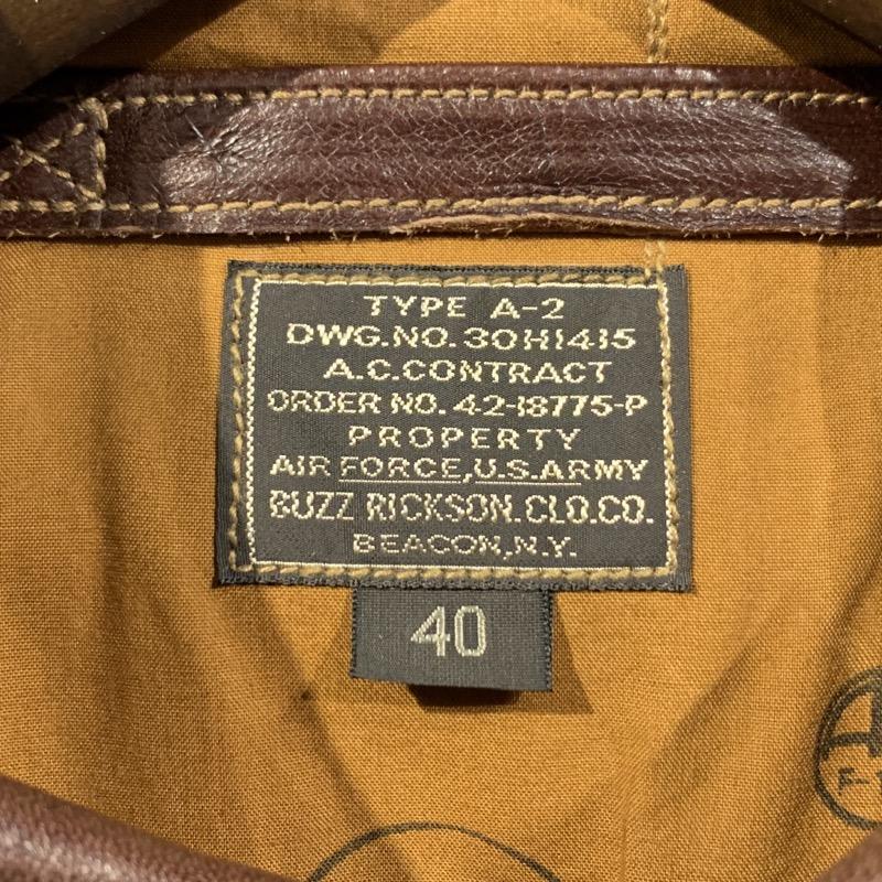 バズリクソンズ A-2 フライトジャケット 赤リブ BR80367