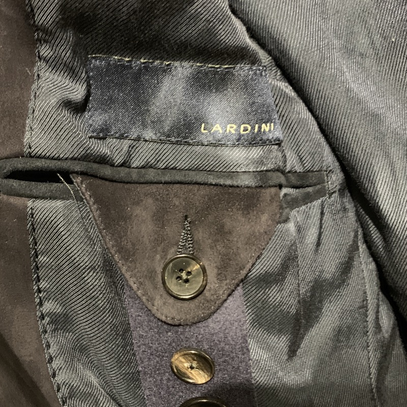 ラルディーニ スエード レザー 3つボタン段返りジャケット