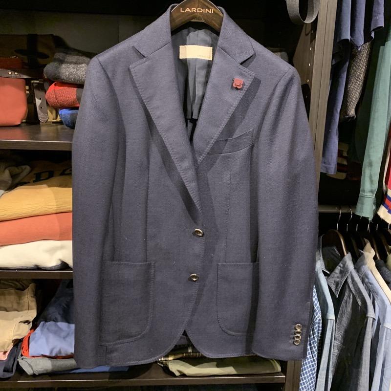 ラルディーニ ウール×モヘア ホップサック 3つボタン段返りジャケット